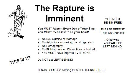 rapture imminent earthquake rapture outside