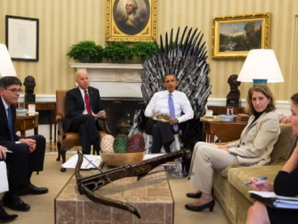 OBAMA THRONE and CROWN